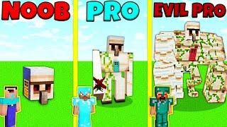 Minecraft Battle: NOOB vs PRO vs EVIL PRO: GOLEM HOUSE BUILD CHALLENGE / Animation