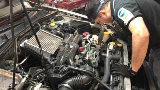 How to replace a timing belt and water pump on 2005 Subaru Legacy 2 5L GT H4DOTC