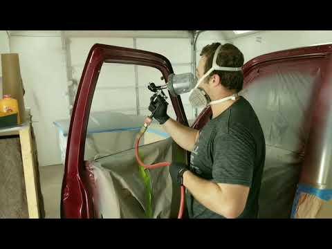 Painting automotive Base Coat..90's model GMC