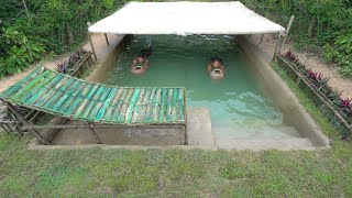 Build The Most 2Day Roof Temple Underground Swimming Pool