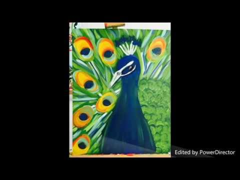 Peacock Painting - Ladies Night Out