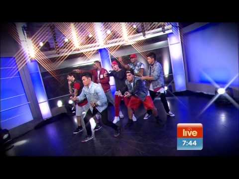 Justice Crew perform 'Everybody' live  on sunrise