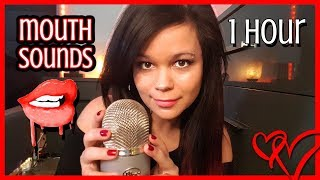 ASMR Mouth Sounds No Talking 1 Hour *INTENSE & WET*