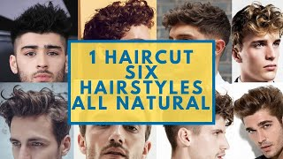 1 Haircut 6 Hairstyles |  All Natural,  No Hair TOOLS needed! Natural Wavy Hair
