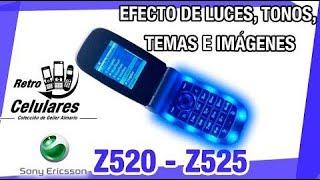Sony Ericsson Z520 / Z525 efecto LUCES, TONOS, IMÁGENES E TEMAS Retro celulares 4k