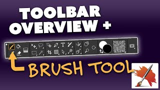 Overview of Toolbar & the Brush Tool (Corel Painter Course Sample)