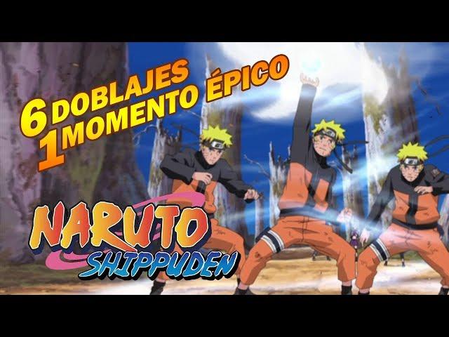 Naruto lanza el Rasen Shuriken a Kakuzu - 6 Doblajes 1 Momento Épico - Naruto Shippuden