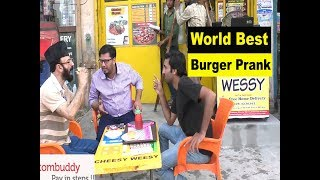 World Best  Burger Prank  |Allama pranks |Lahore TV | Pakistan | pranks in India