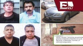 Rescatan a 11 personas secuestradas en el DF; caen 4 secuestradores / Vianey Esquinca
