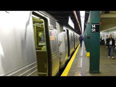 IND 6th Ave Line FASTRACK: R46 A Train at 14th St-6th Ave (Brooklyn Bound)