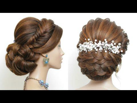 2 Прически на длинные волосы для выпускного вечера, свадьбы.