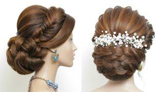 2 Прически на длинные волосы для выпускного вечера свадьбы