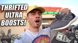 Trip to the Thrift #239 | $20 ADIDAS ULTRA BOOSTS COP'T! Plus Jordan 4 and Nike Uptempos