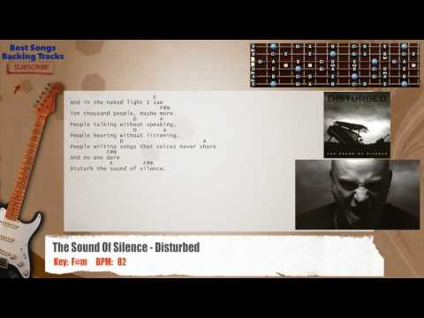 The Sound Of Silence - Disturbed Guitar Backing Track with chords and lyrics