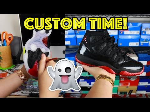 047823e1eb6d98 PREMIUM AIR JORDAN DIRTY BRED 11 CUSTOM TIME-LAPSE + 72-10 11 GIVEAWAY! -  YouTube