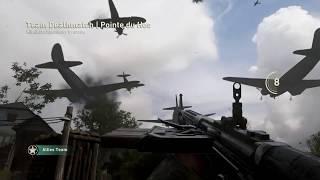 Call of Duty WW2 beta - Pointe Du Hoc team deathmatch gameplay