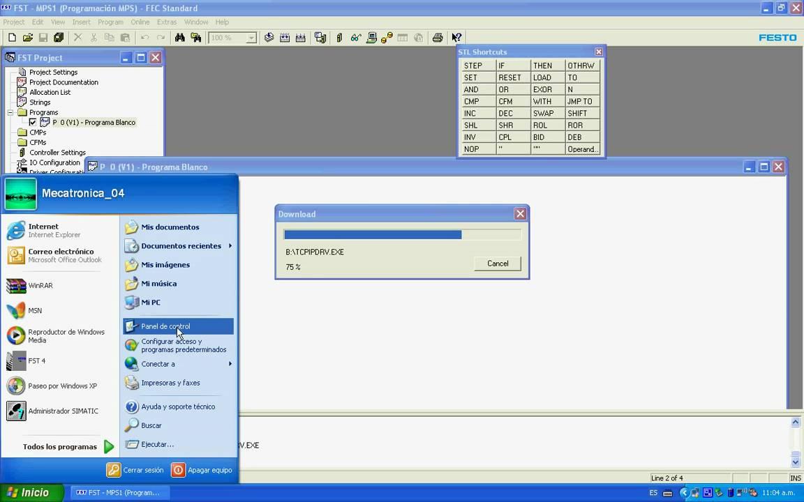 Festo FST - Comunicación Serial y Ethernet avi