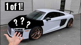 homepage tile video photo for Worlds Cheapest Audi R8 CUSTOM Hood!!