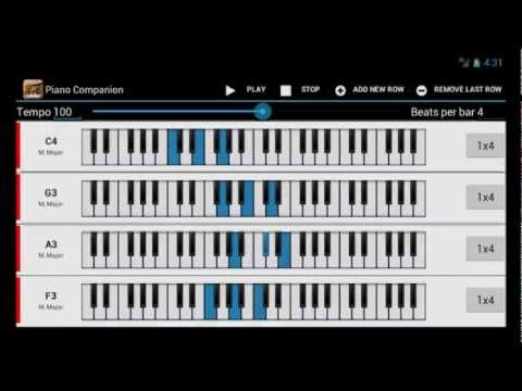 Piano Companion Android Chord Progression Chord Sequencer Demo