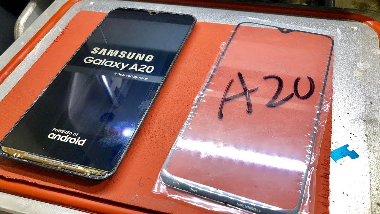 Galaxy A20 Front Glass Replacement Youtube