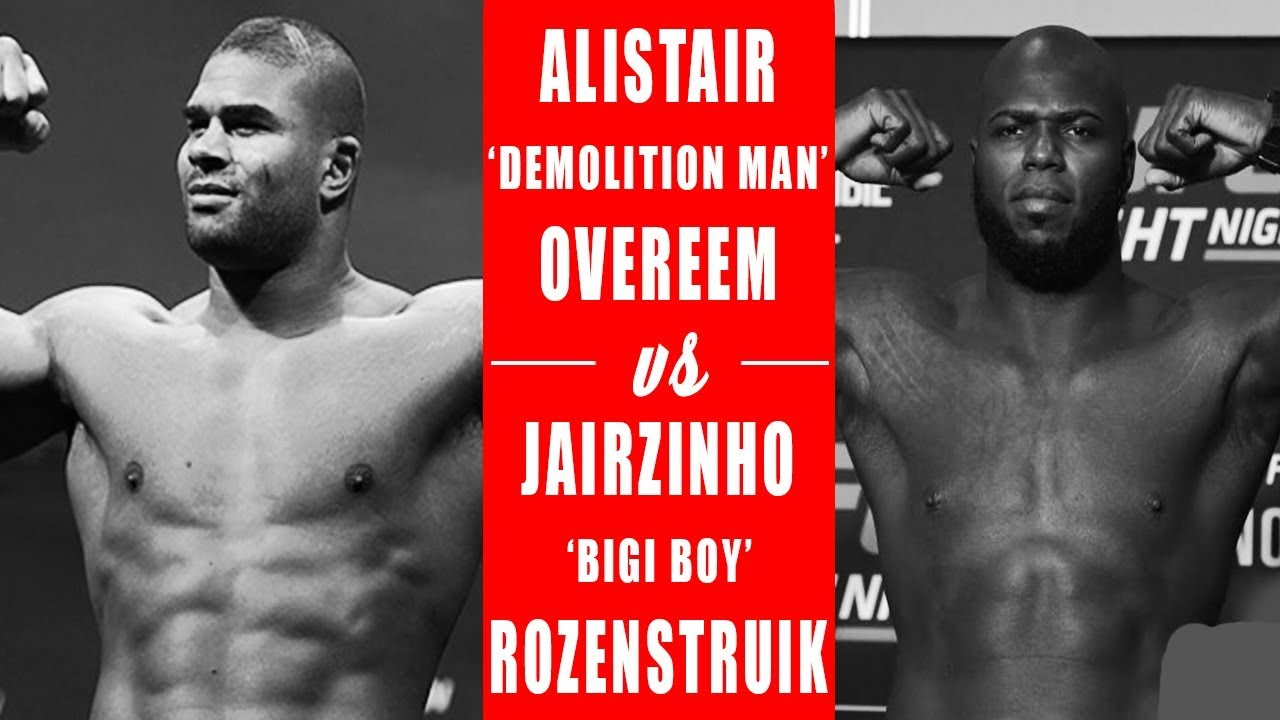 Alistair Overeem Vs Jairzinho Rozenstruik Official For December