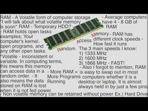 What is RAM? (Random Access Memory) - Computer Basics
