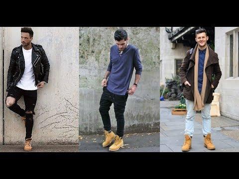 Dinámica sombra Solo haz  10 ideas de combonar botas timberland hombre - YouTube