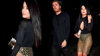 Jessica Hayes in totally sheer skirt hits the town with CBB's Davis' ex beau Sam Reece