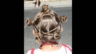 Star Twist Buns | 4th of July | Cute Girls Hairstyles