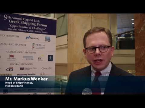 2018 9th Annual Greek Shipping Forum - Markus Wenker Interview