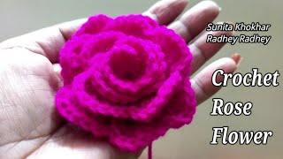 Crochet Rose flowers very easy Part - 2 (तोरण) Radhey Radhey