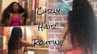Curly Hair Routine | Washing & Styling ft. Ali Annabelle Weave Bundles