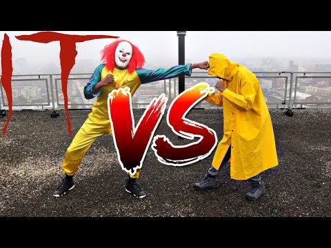 PENNYWISE VS GEORGIE FIGHT!!!! WHO WILL FLOAT??? OMG!!!! (BATTLE)
