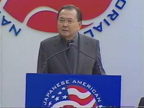 Senator Daniel K. Inouye at the Groundbreaking for National Japanese American Memorial to Patriotism