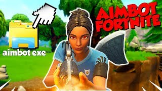 "J'ACTIVE MON ""CHEAT AIMBOT"" CONTRE UN BAMBI SUR FORTNITE!! IL RAGE ! Cheat Fortnite"