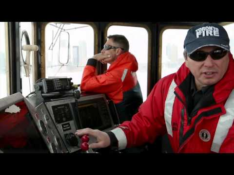 Coldest job in Toronto: Ice-breaking fire boat