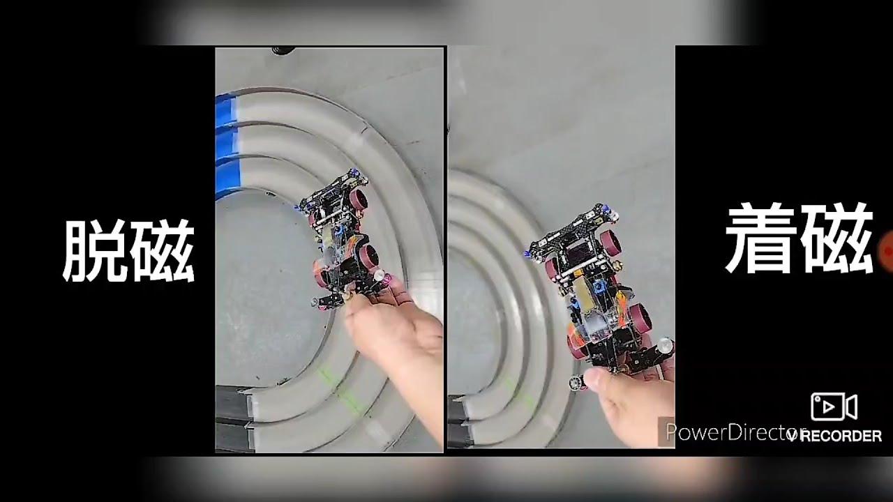 【ミニ四駆】着磁パワースプリントとアルティメットスプリントを走行比較!二画面動画作ったよ!
