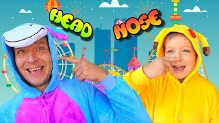 Head, Shoulders, Knees & Toes  -  Exercise & Dance Song from Funny Max Show