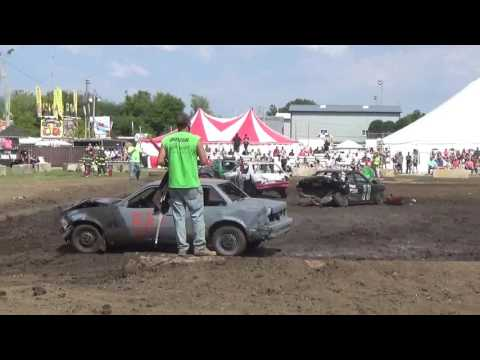DuPage County Fair Demolition Derby Compacts Day Show (Short Clip)