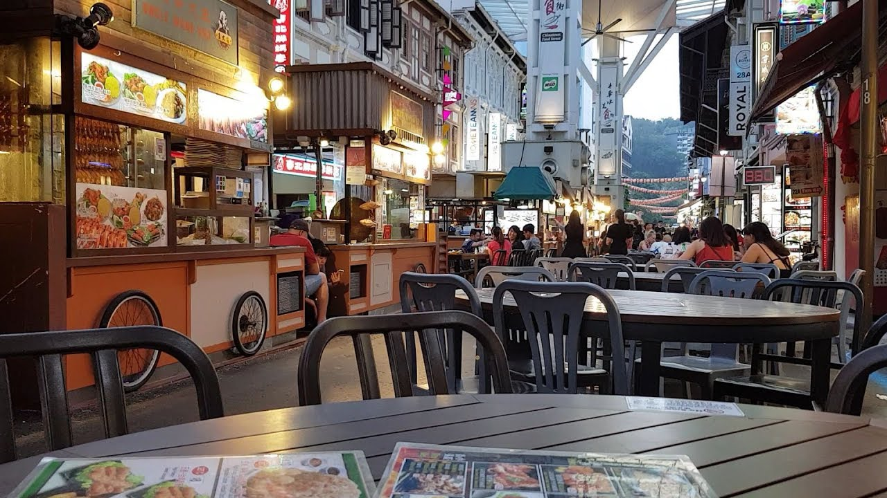 Chinatown Food Street in Singapore