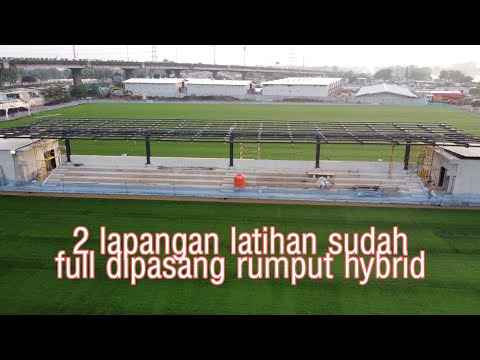 Update Pemasangan Rumput Gawang Dan Bench Pemain Lapangan Latihan Jakarta Internasional Stadium