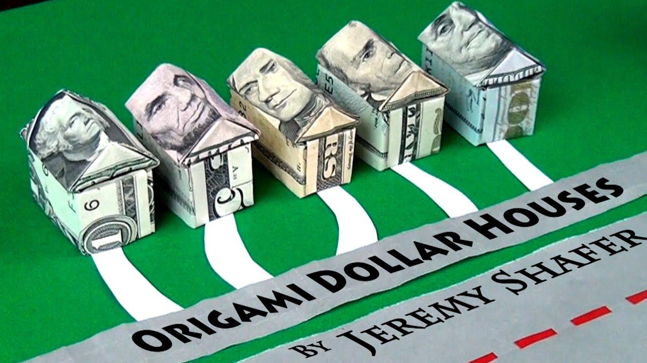 origami dollar house youtube