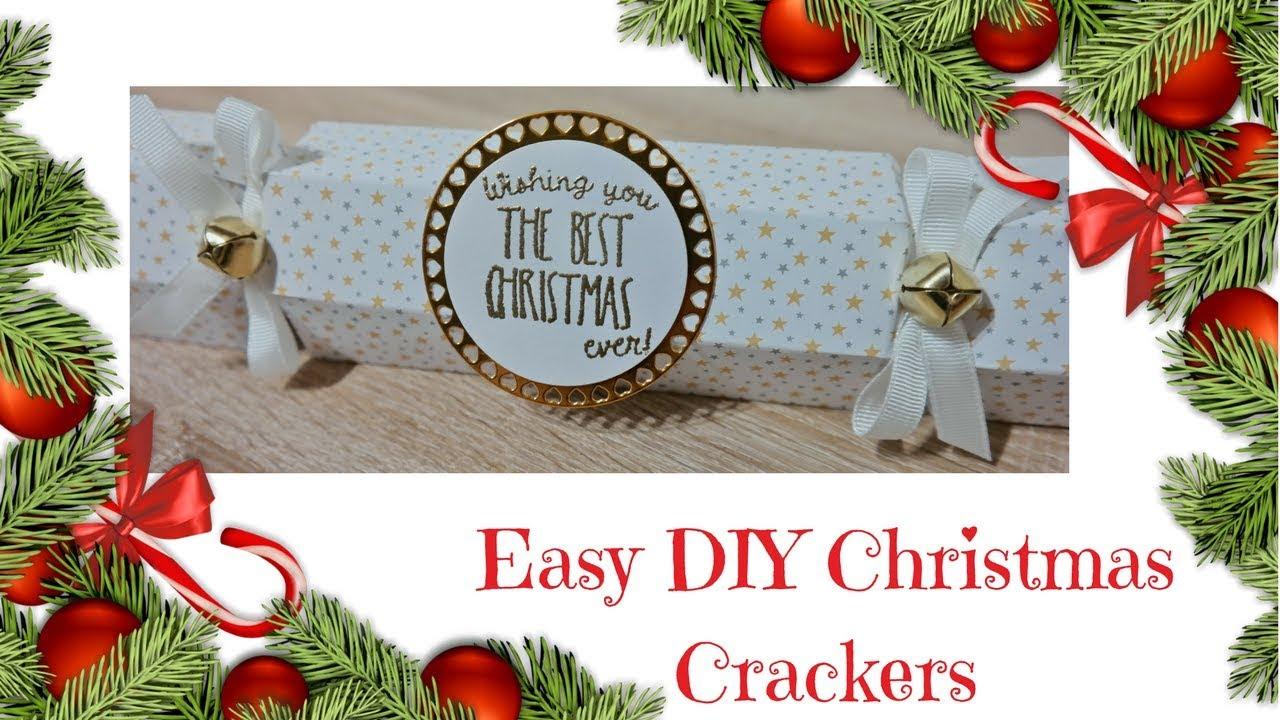 Christmas Workshop 2017 Easy Diy Christmas Crackers Youtube