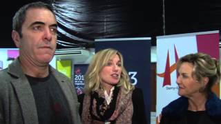 James Nesbitt, Eva Birthistle & Amanda Burton