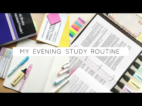My Evening Study Routine
