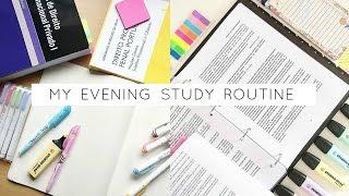 My Evening Study Routine
