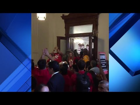 Protests during final hours of 85th Texas Legislature