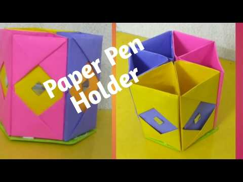 How to make Beautiful Paper pen holder