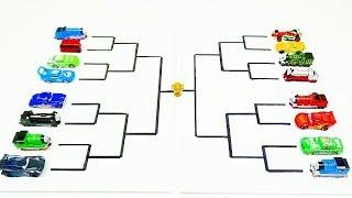 Disney Cars VS Thomas & Friends Toys Race Tournament! Video for Kids