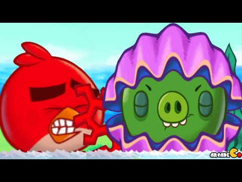 Angry Birds Fight: New S Class Item MONSTER CLAM PIG RAID BATTLE Snow Island 8-8! - 동영상